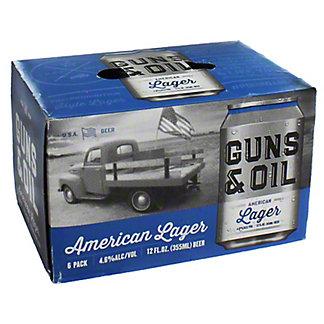 Guns & Oil Maverick Lager 12 oz,6 pk