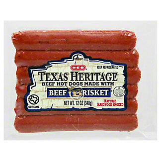 H-E-B Texas Heritage Hot Dogs - Beef Brisket,12 oz