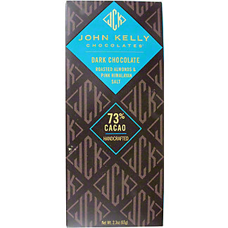 John Kelly Dark Chocolate Almonds Pink Himalayan Salt, 2.3 OZ