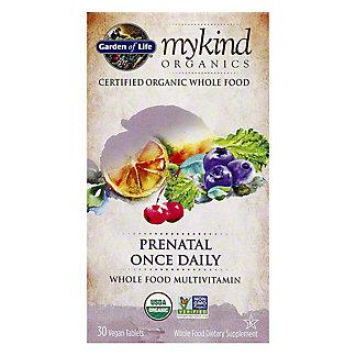 Garden of Life Mykind Organic Prenatal Once Daily Vitamin, 30 ct