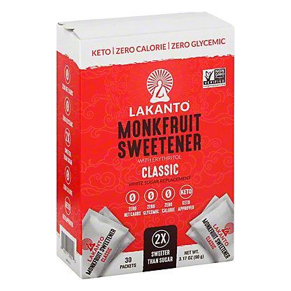 Lakanto Monkfruit Sweetener Stick Packs, 3.17oz