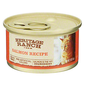 H-E-B Heritage Ranch Salmon Recipe Cat Food, 3 oz