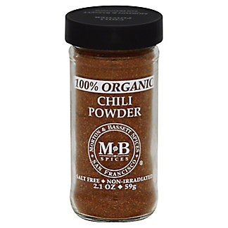 Morton & Bassett Organic Chili Powder, 2.1 oz
