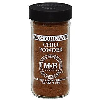 Morton & Bassett Organic Chili Powder, 2.1 oz