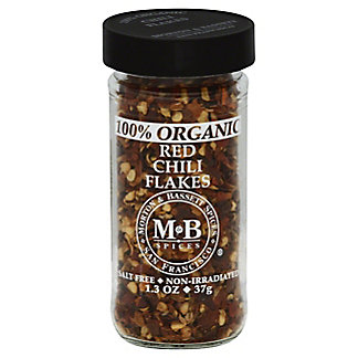 Morton & Bassett Organic Red Chili Flakes, 1.3 oz