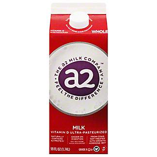 a2 Milk Whole Milk, 59 oz