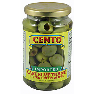Cento Cento Castelvetrano Pitted Green Olives,11.60 oz
