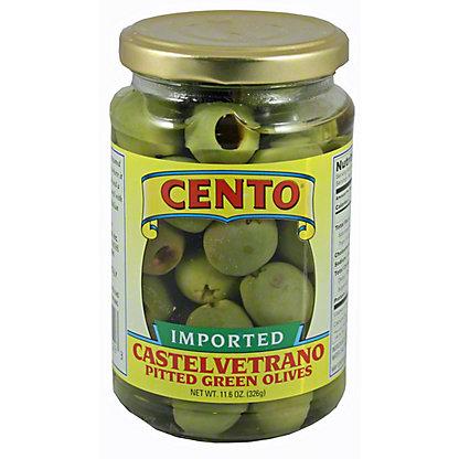 Cento Cento Castelvetrano Pitted Green Olives,11.60 oz