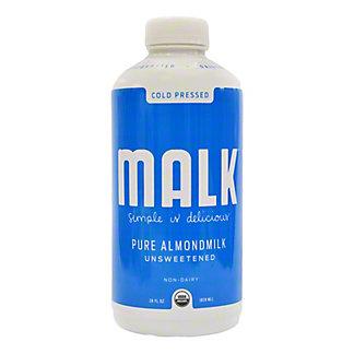 Malk Milk Unsweetened Almond,28 oz
