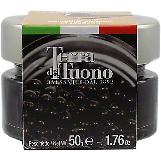 Terra Del Tuono Black Balsamic Pearls, 1.76 OZ