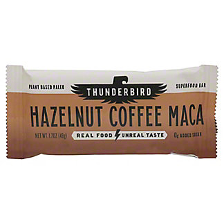 Thunderbird Hazelnut Coffee Maca Real Food Bar, 1.70 oz