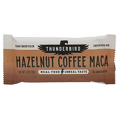 Thunderbird Hazelnut Coffee Maca Real Food Bar, 1.70 oz
