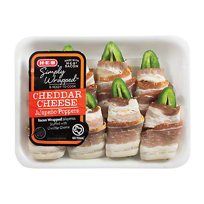 H-E-B Simply Wrapped™ Cheddar Cheese Jalapeno Poppers,EACH