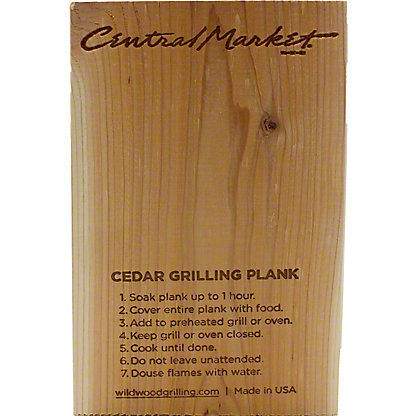 Central Market Cedar Grlling Plank 5X8,5X8