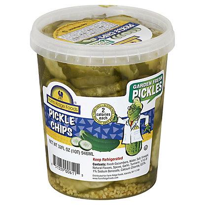 Farm Ridge Foods Pickle chips, 32 OZ