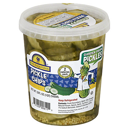 Farm Ridge Foods Pickle chips, 32 OZ