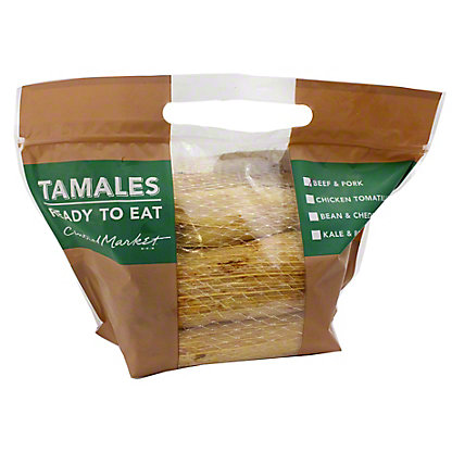 Central Market CM Tamales Beef and Pork 8 CT, EACH