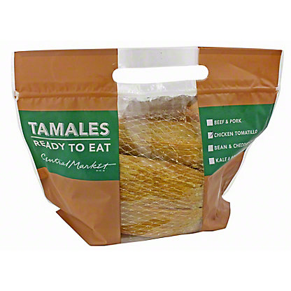 Central Market CM Tamales Chicken Tomatillo 8CT, EACH