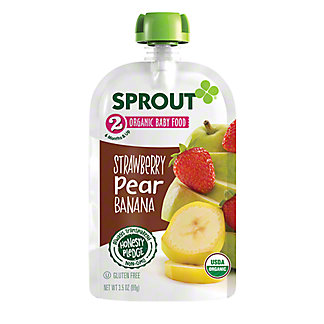 Sprout Stage 2 Strawberry Pear Banana Organic Baby Food,3.5 oz