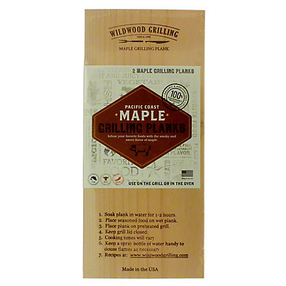 Wildwood Maple Grilling Planks, 2 ct
