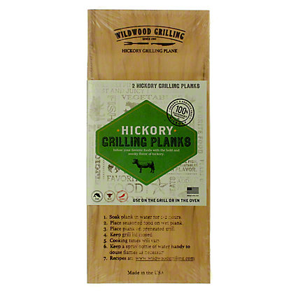 Wildwood Hickory Grilling Planks, 2 ct