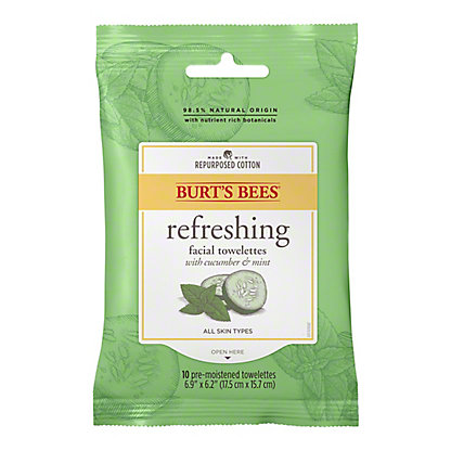 Burt's Bees Facial Cleansing Towelettes, Cucumber & Sage,10 ct