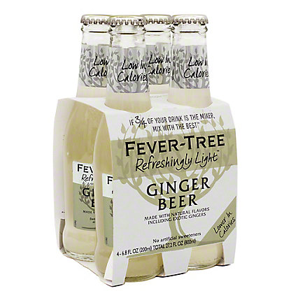Fever Tree Light Ginger Beer, 6.8 OZ - 4 pk