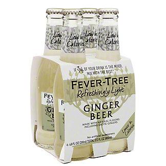 Fever Tree Light Ginger Beer, 6.8 OZ - 4 pk