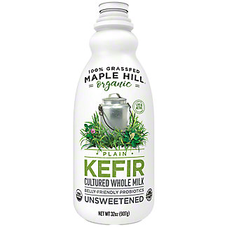 Maple Hill Creamery Organic Grassfed Plain Kefir, 32 oz