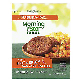 MorningStar Farms Breakfast Veggie Hot & Spicy Sausage Patties,6.00 ea