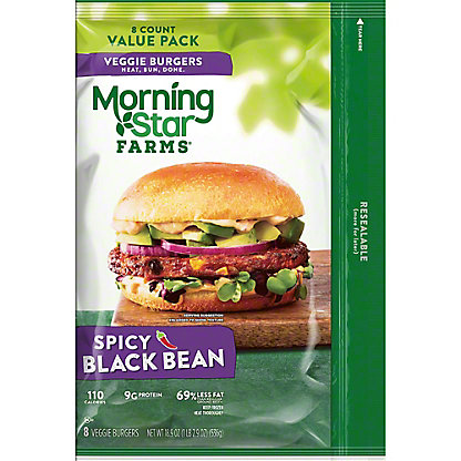 MorningStar Farms MorningStar Farms Veggie Value Pack Spicy Black Bean Patties,8.00 ea