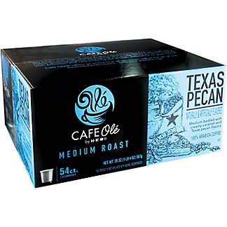 H-E-B Cafe Ole Texas Pecan Single Serve Coffee Cups Value Pack,54 ct