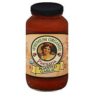 Paesana Pasta Sauce Organic Roasted Garlic, 25 oz
