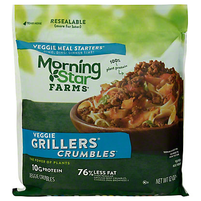 MorningStar Farms Meal Starters, Grillers Crumbles,12.00 oz