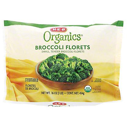 H-E-B Organics Broccoli Florets,16 oz
