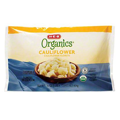 H-E-B Organics Steamable Cauliflower Florets,16 oz