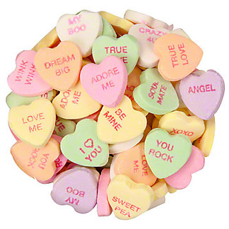 Necco Motto Conversation Hearts, Sold by the pound
