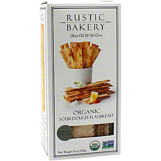 Rustic Bakery Sourdough Flat Bread Olive Oil & Sel Gris, 6 oz