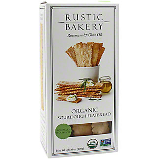 Rustic Bakery Sourdough Flat Bread Rosemary & Olive Oil,6 OZ
