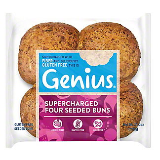 Genius Gluten Free Multi Seed Rolls, 10.6 oz