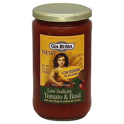 Gia Russa Pasta Sauce Low Sodium Tomato Basil, 24 oz