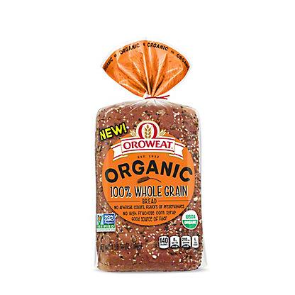 Oroweat Organic 100% Whole Grain, 18 oz