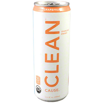 Clean Cause Grapefruit Sparkling Energy Drink,12 OZ