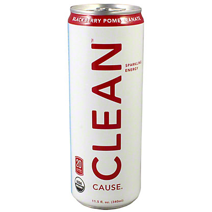 Clean Cause Blackberry Pomegranate Energy Drink,12 OZ