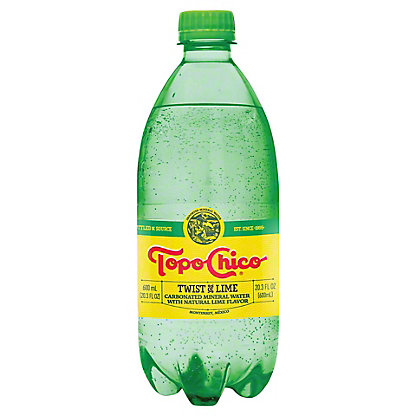 Topo Chico Twist Of Lime Flavored Sparkling Water, 20 oz