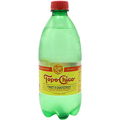 Topo Chico Twist Of Grapefruit Flavored Sparkling Water, 600 mL