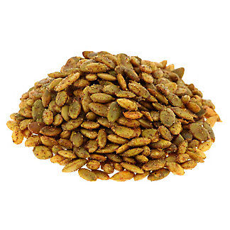 Woodstock Farms Organic Fiesta Pumpkin Seeds, sold by the pound