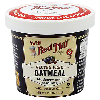 Bobs Red Mill Blueberry and Hazelnut Oatmeal Cup,2.50 oz
