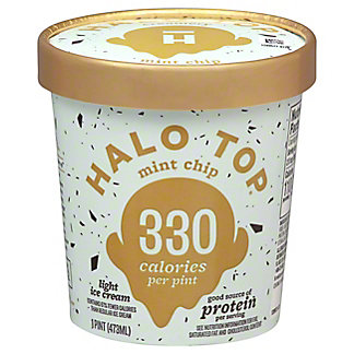 Halo Top Light Ice Cream Mint Chip,1 pt