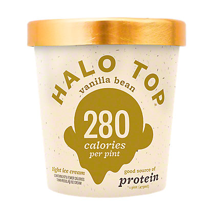 Halo Top Halo Top Light Ice Cream Vanilla Bean,1 pt